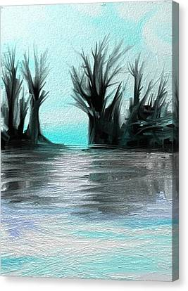 Canvas Print featuring the digital art Art Abstract by Sheila Mcdonald