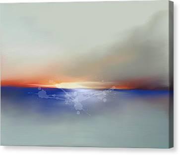 Abstract Beach Sunrise  Canvas Print