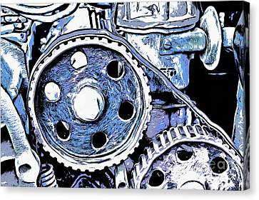 Abstract Detail Of The Old Engine Canvas Print by Michal Boubin