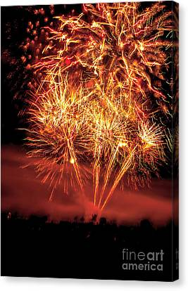 Abstract Fireworks Canvas Print by Robert Bales
