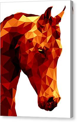 Abstract Horse Canvas Print by Gallini Design