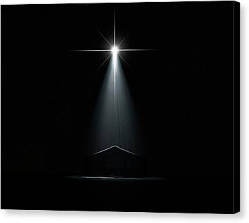 Jesus Canvas Print - Abstract Nativity Scene by Allan Swart