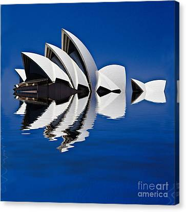 Abstract Of Sydney Opera House Canvas Print by Avalon Fine Art Photography