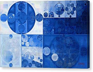 Abstract Painting - Beau Blue Canvas Print by Vitaliy Gladkiy