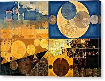 Indian Yellow Canvas Print - Abstract Painting - Chambray by Vitaliy Gladkiy
