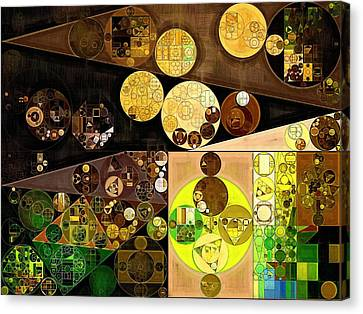 Abstract Painting - Golden Sand Canvas Print by Vitaliy Gladkiy