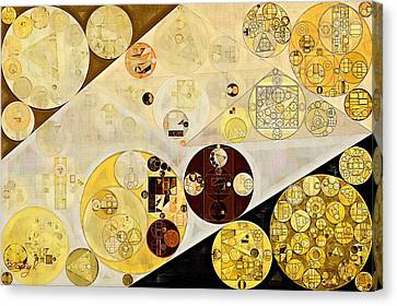 Gold Color Canvas Print - Abstract Painting - Metallic Gold by Vitaliy Gladkiy