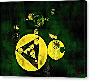 Abstract Painting - Phthalo Green Canvas Print by Vitaliy Gladkiy