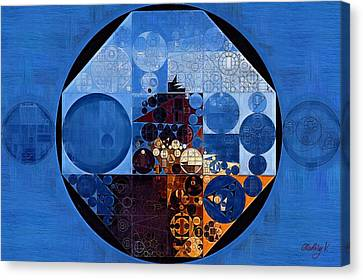 Abstract Painting - Polo Blue Canvas Print by Vitaliy Gladkiy