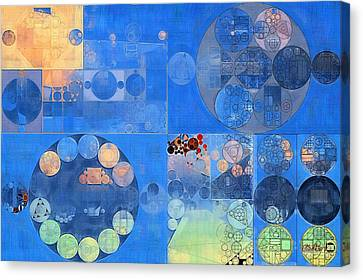 Abstract Painting - Resolution Blue Canvas Print by Vitaliy Gladkiy