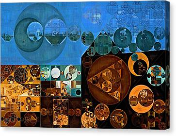 Abstract Painting - Tufts Blue Canvas Print