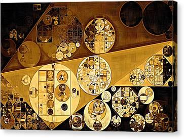 Abstract Painting - Zinnwaldite Brown Canvas Print by Vitaliy Gladkiy