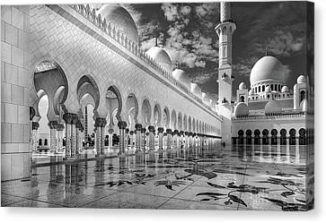 Abu Dhabi Mosque Canvas Print by Jorg Peter