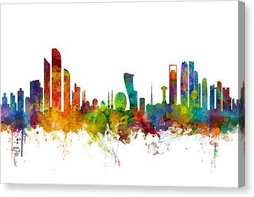 Abu Dhabi Skyline Canvas Print by Michael Tompsett