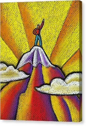Achievement Canvas Print by Leon Zernitsky