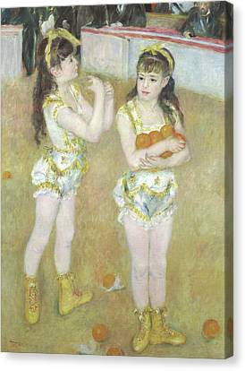 Acrobats At The Cirque Fernando, Francisca And Angelina Wartenberg Canvas Print