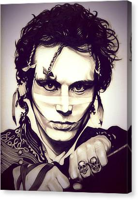 Adam Ant Canvas Print by Fred Larucci