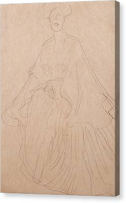 Adele Bloch Bauer Canvas Print by Gustav Klimt