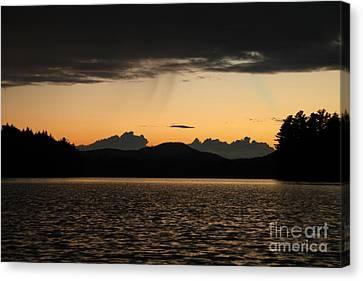 Adirondack Sunset Canvas Print by Steve Clough