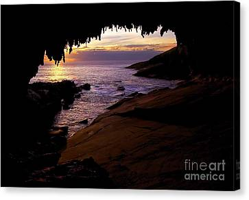 Admiral's  Arch Sunset Canvas Print by Mike Dawson