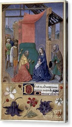 Adoration Of Magi Canvas Print by Granger