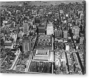 Aerial Of Pennsylvania Station Canvas Print