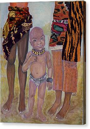 Afrik Boy Canvas Print
