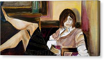 Debi Pople Canvas Print - After A Long Day by Debi Starr