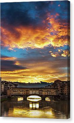 After The Storm In Florence Canvas Print by Andrew Soundarajan