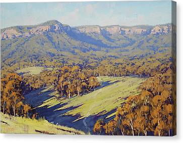 Afternoon Light Megalong Valle Canvas Print by Graham Gercken