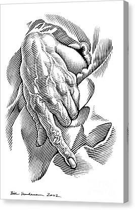Aged Hand, Artwork Canvas Print
