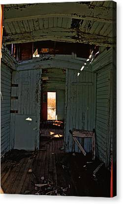 Aging Red Caboose Canvas Print by Patrick  Flynn