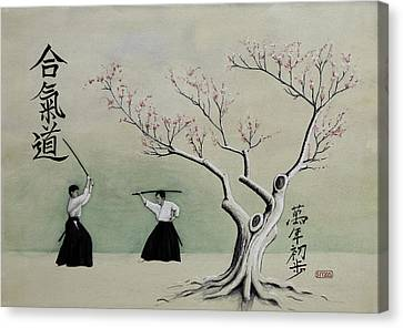 Aikido Always Beginning Canvas Print by Scott Manning