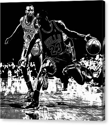 Jordan Canvas Print - Air Jordan Hitting The Brakes by Brian Reaves