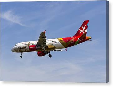 Air Malta Airbus A320 Canvas Print by David Pyatt
