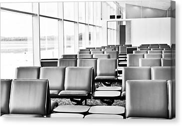 Airport Waiting Lounge Canvas Print by Tom Gowanlock