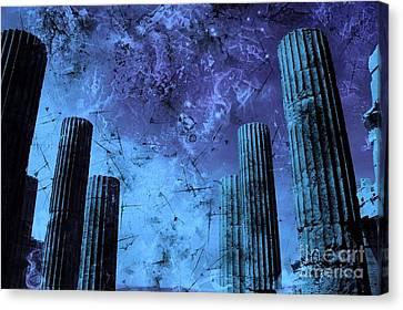 Akropolis Columns Canvas Print by Marina McLain
