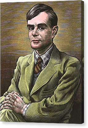 Alan Turing, British Mathematician Canvas Print by Bill Sanderson