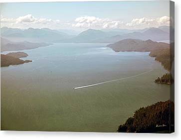 Canvas Print featuring the photograph Alaska The Beautiful by Madeline Ellis
