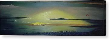 Alaskan Sunset Canvas Print by Anna Villarreal Garbis