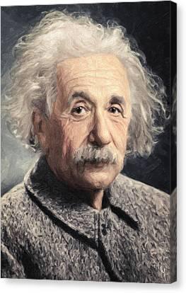 Albert Einstein Canvas Print by Taylan Apukovska