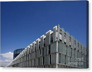 Glass And Metal Art Canvas Print - Alcorcon Arts Creation Center by Carlos Dominguez
