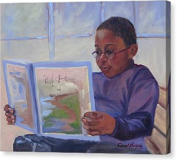 Alex Reading Canvas Print by Carol Berning