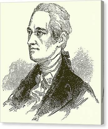 Alexander Hamilton Canvas Print by English School