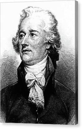 Cravat Canvas Print - Alexander Hamilton by John Trumbull