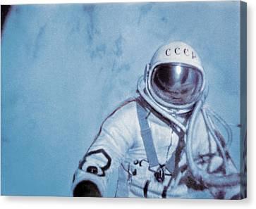 Alexei Leonov, First Space Walk, 1965 Canvas Print by Ria Novosti