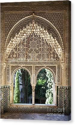 Muslims Canvas Print - Alhambra Windows by Jane Rix
