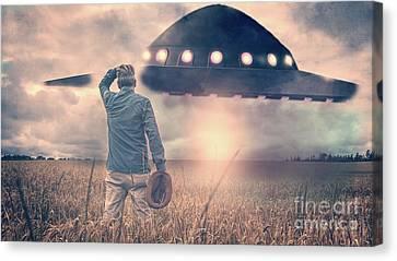 Alien Encounter Canvas Print by Edward Fielding