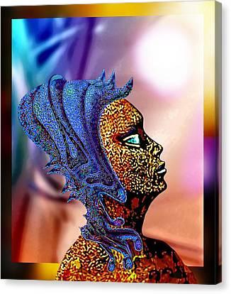 Alien Portrait Canvas Print