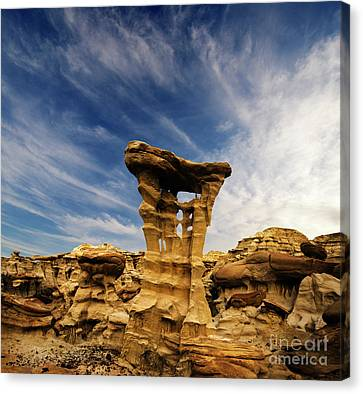 Canvas Print featuring the photograph Alien Throne New Mexico by Bob Christopher